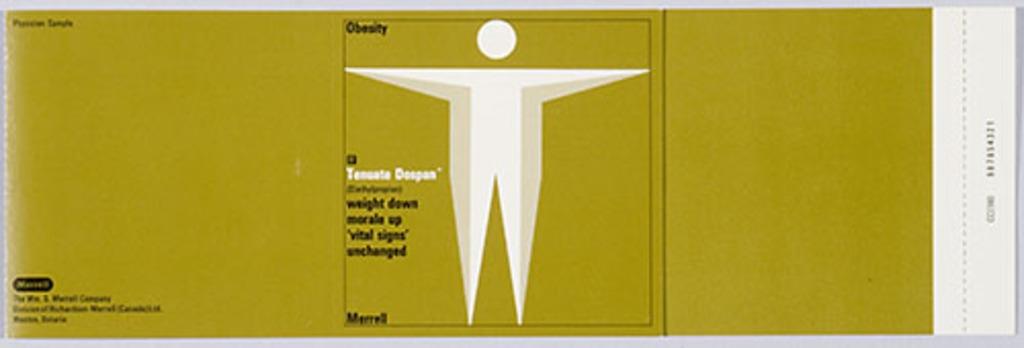 Boîte à échantillon médical « Tenuate Dospan »