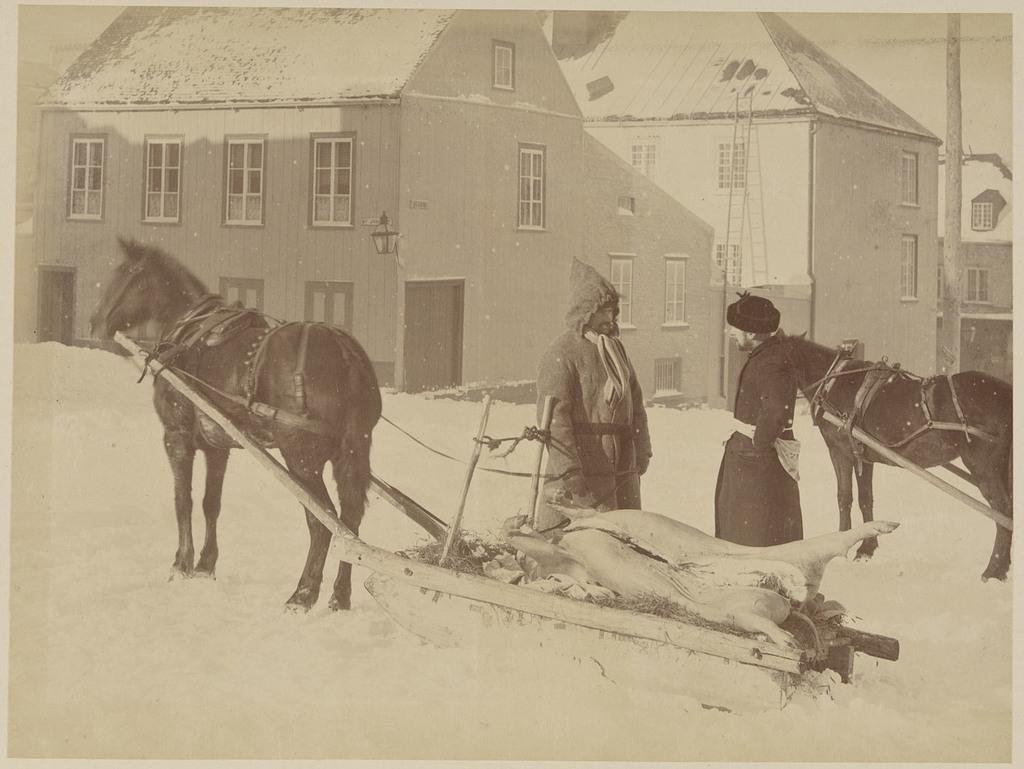 Le Retour du marché, coin des rues Saint-Joachim et des Glacis, Québec, de l'album Vues de Québec et des environs
