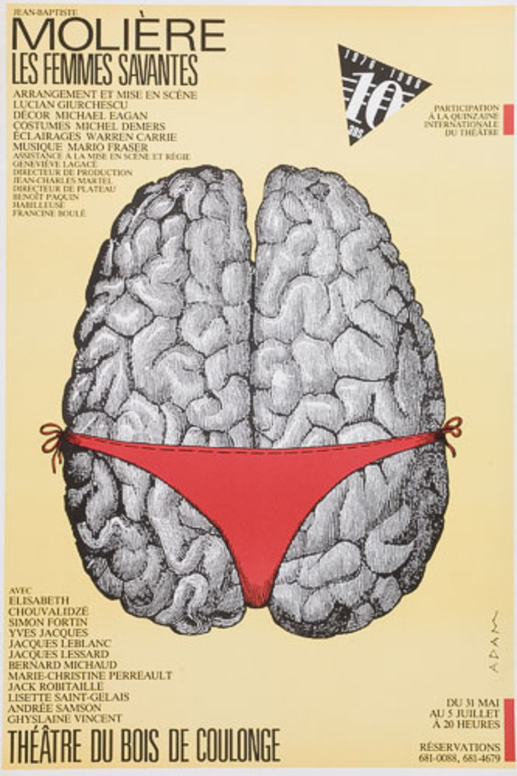 Affiche « Molière : Les Femmes savantes »