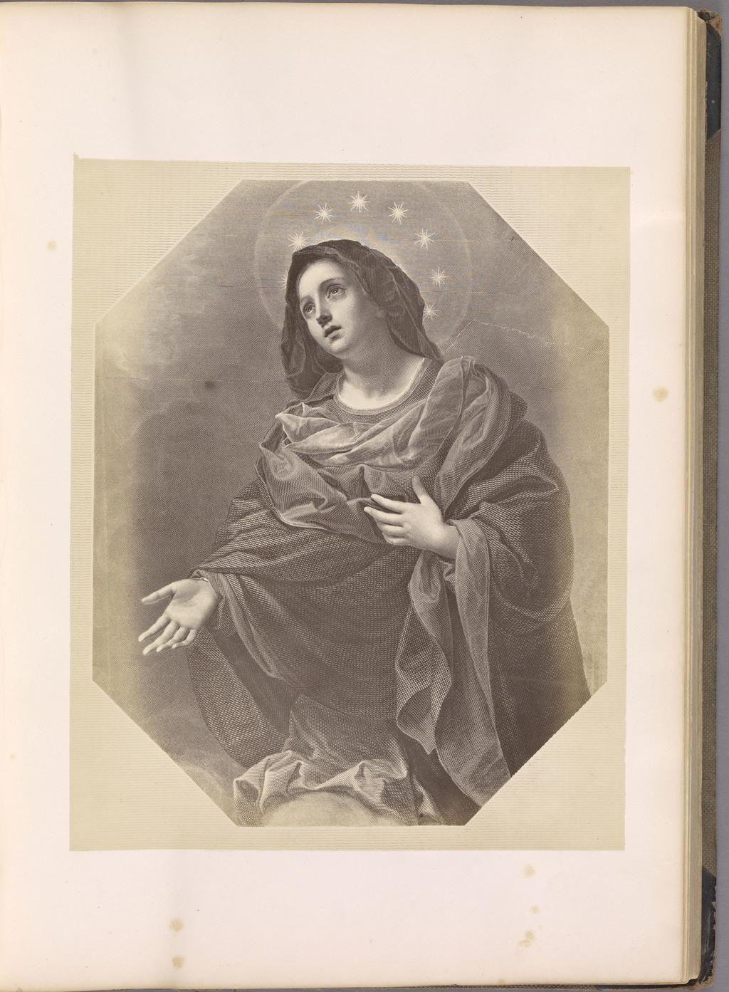 La Madonna Colle Stelle. Photographie d'une gravure de Carlo Dolci, du livre illustré Photographic Selections