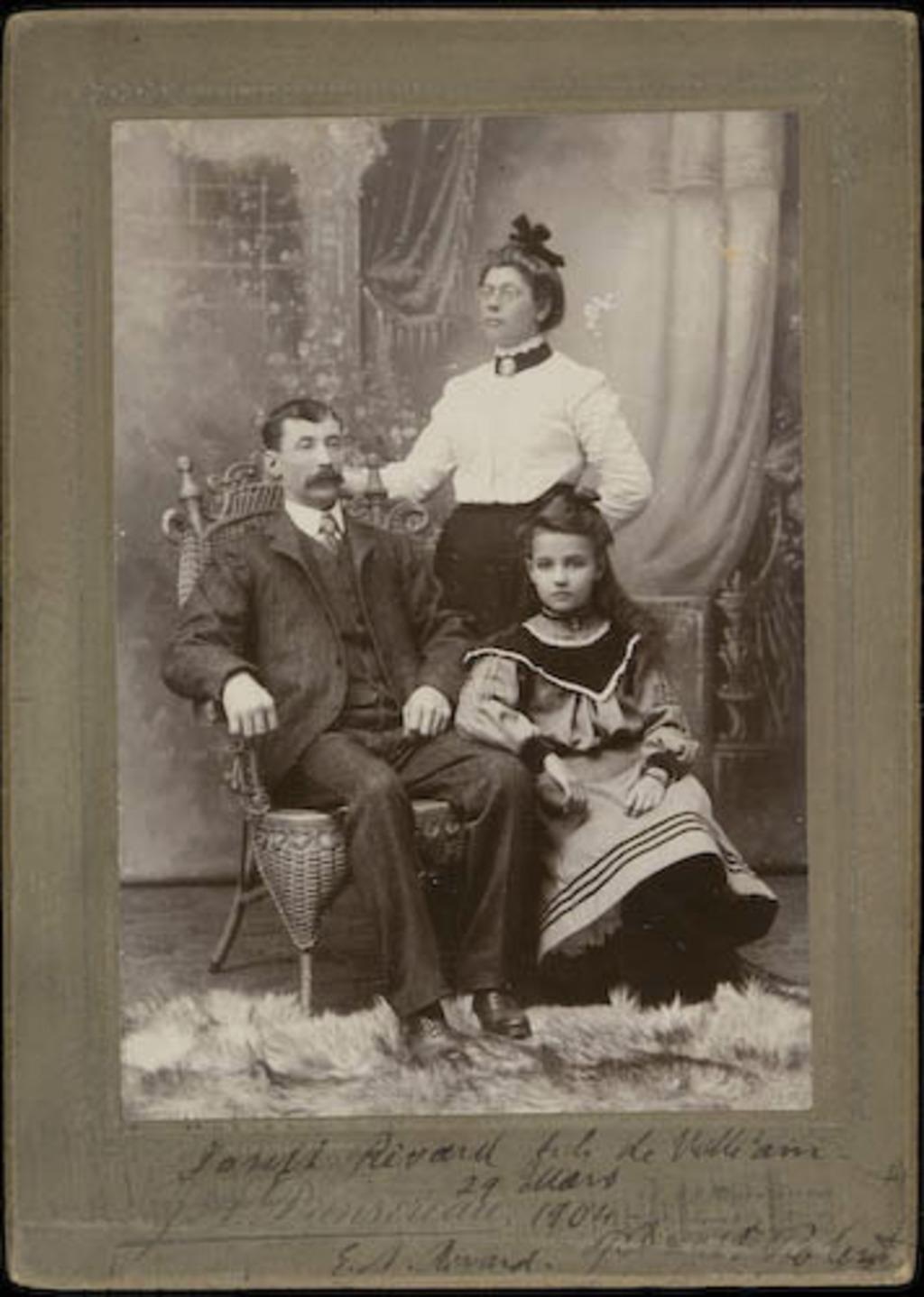 Portrait de la famille de Joseph Rivard