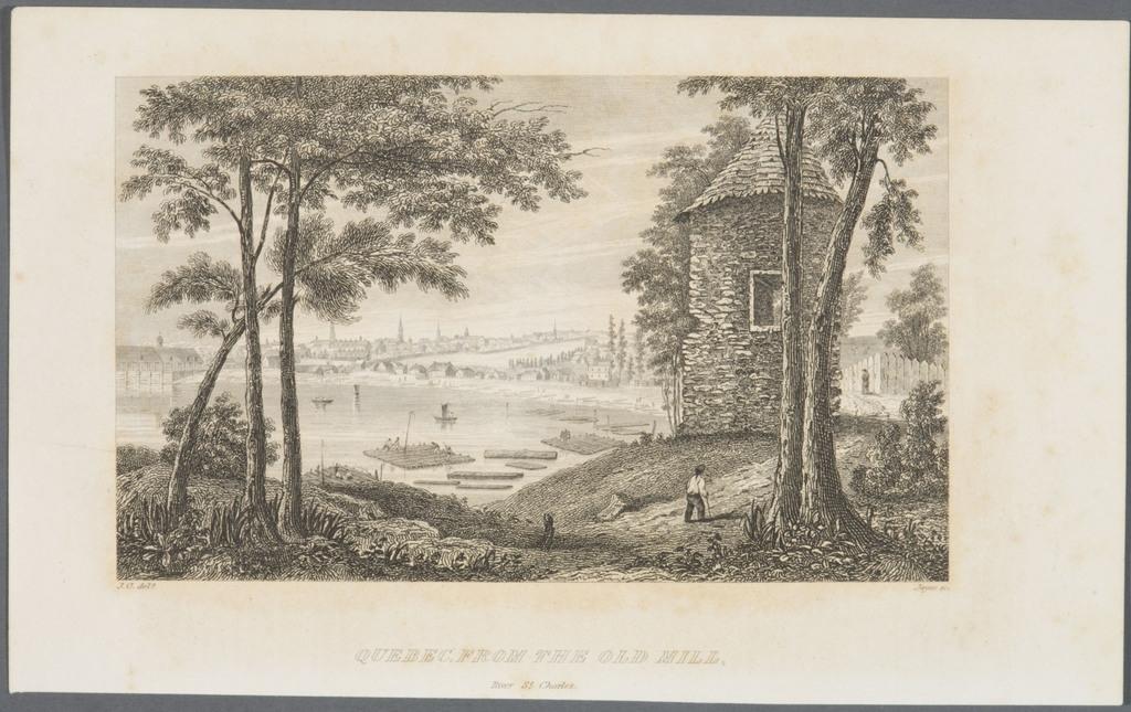 Québec vu de la tour ronde sur la rivière Saint-Charles, extrait de l'ouvrage Quebec and its Environs de James Pattison Cockburn
