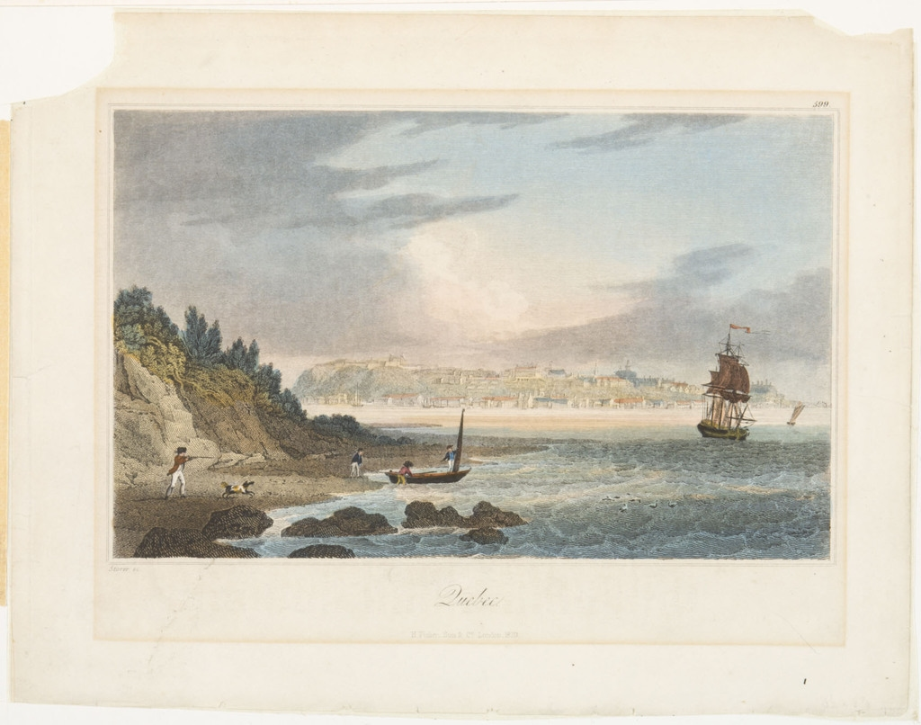 Québec, extrait de l'ouvrage The Geography, History and Statistics of America and the West Indies de Henry Charles Carey