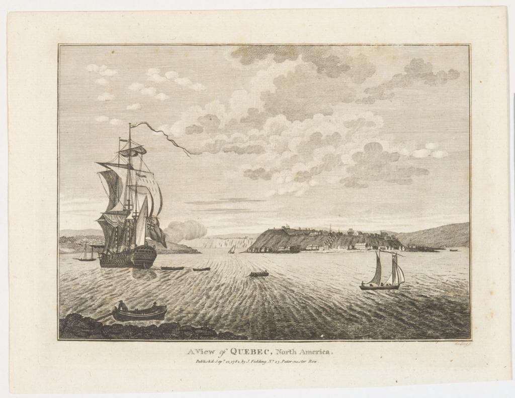 Vue de Québec, Amérique du Nord