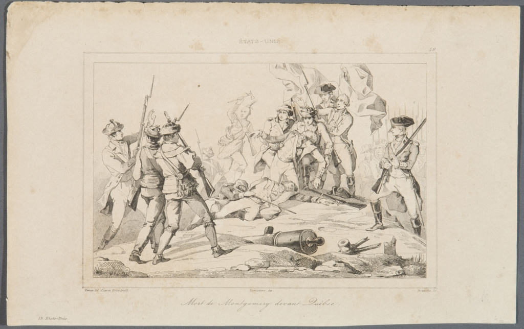 La Mort de Montgomery devant Québec