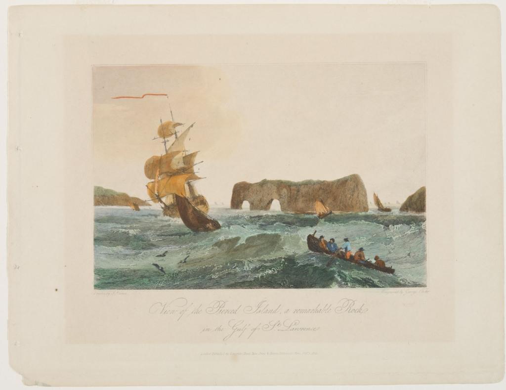 Vue de l'île Percée, un rocher remarquable dans le golfe du Saint-Laurent