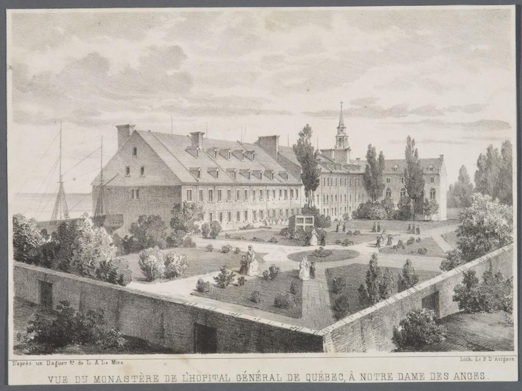 Vue du monastère de l'Hôpital général de Québec, à Notre-Dame-des-Anges