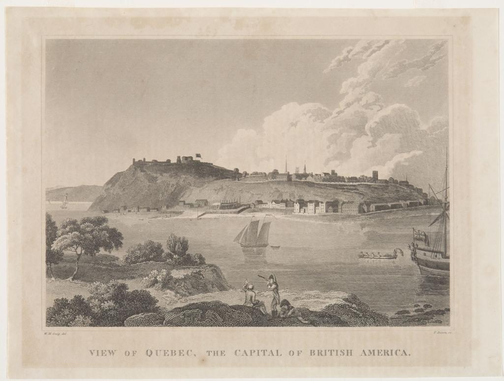 Vue de Québec, capitale de l'Amérique du Nord britannique