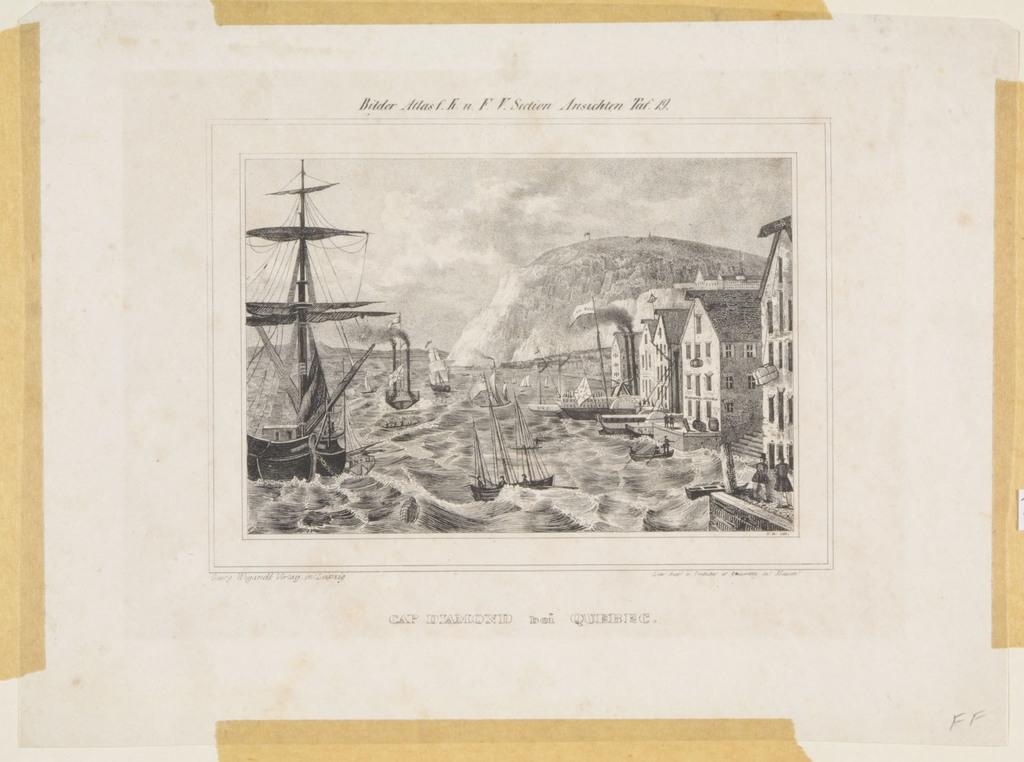 Le Cap Diamant, Québec, extrait du Bilder Atlas