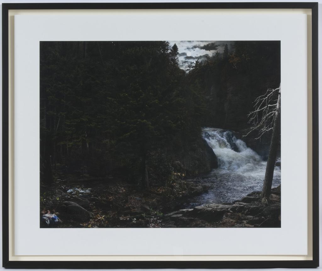 Chasse et pêche aux chutes Jacques-Cartier, de la série « Répliques (d'après Krieghoff) »