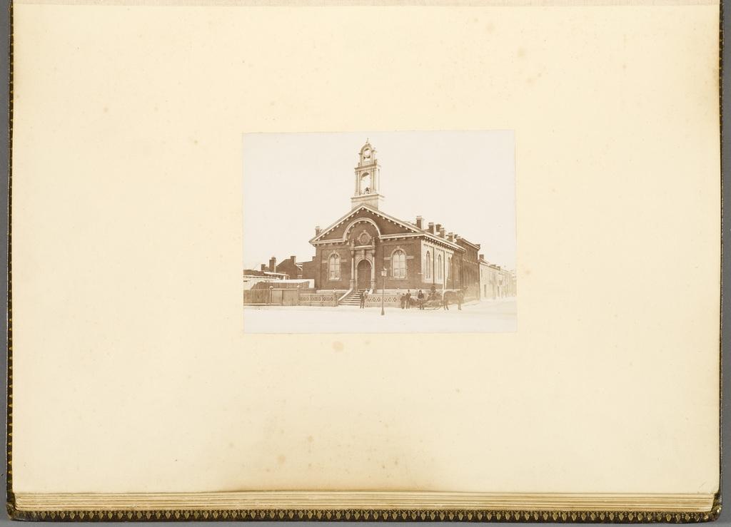 L'Église St. Mark en hiver, Montréal, de l'album du révérend William M. Black