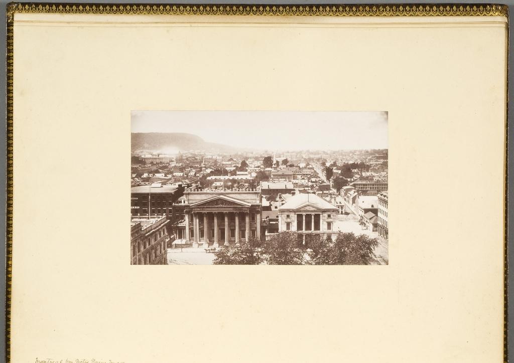 Montréal vu de l'église Notre-Dame, de l'album du révérend William M. Black