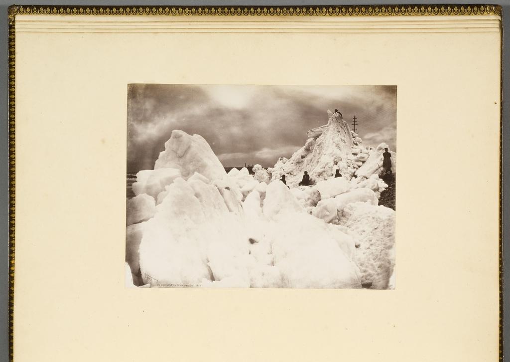 Embâcle sous le pont Victoria, Montréal, de l'album du révérend William M. Black