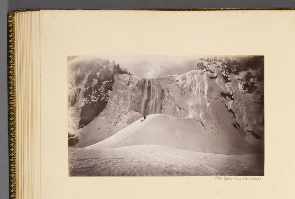 Le Cône de glace de la chute Montmorency, de l'album du révérend William M. Black