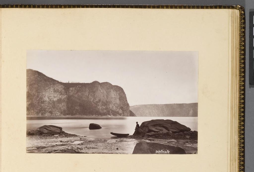 Le Cap Trinité sur le Saguenay, de l'album du révérend William M. Black