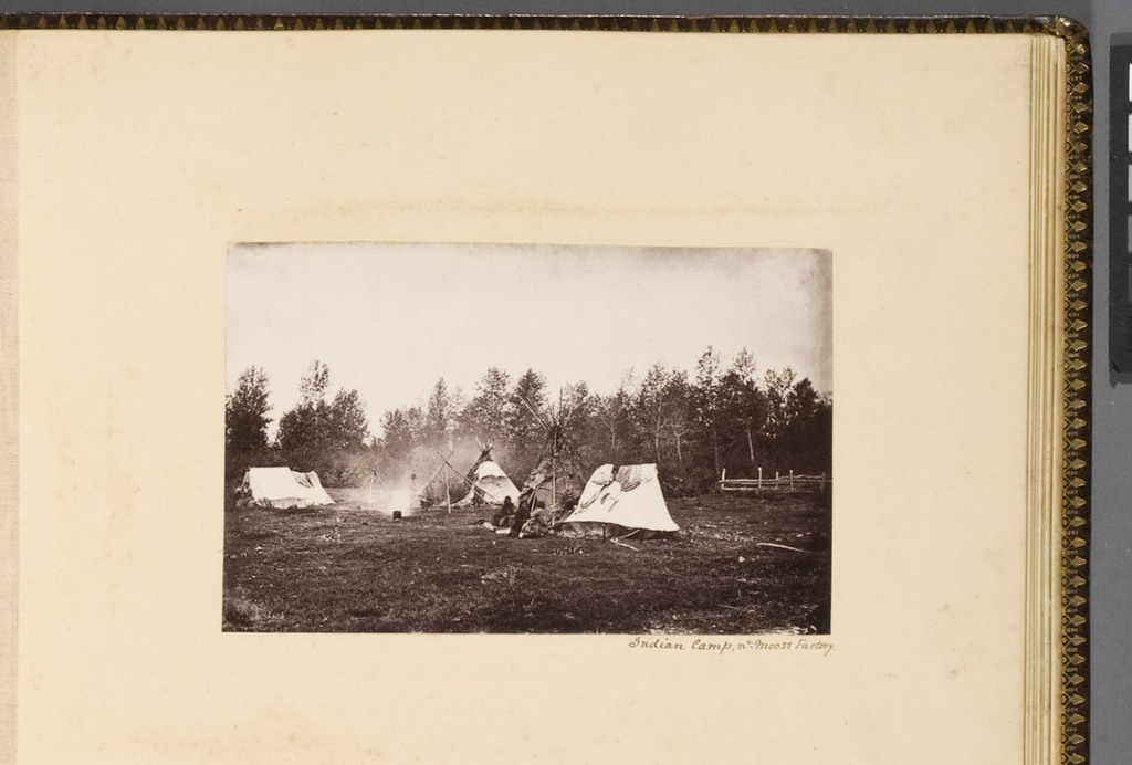 Campement indien, à Moose Factory, de l'album du révérend William M. Black