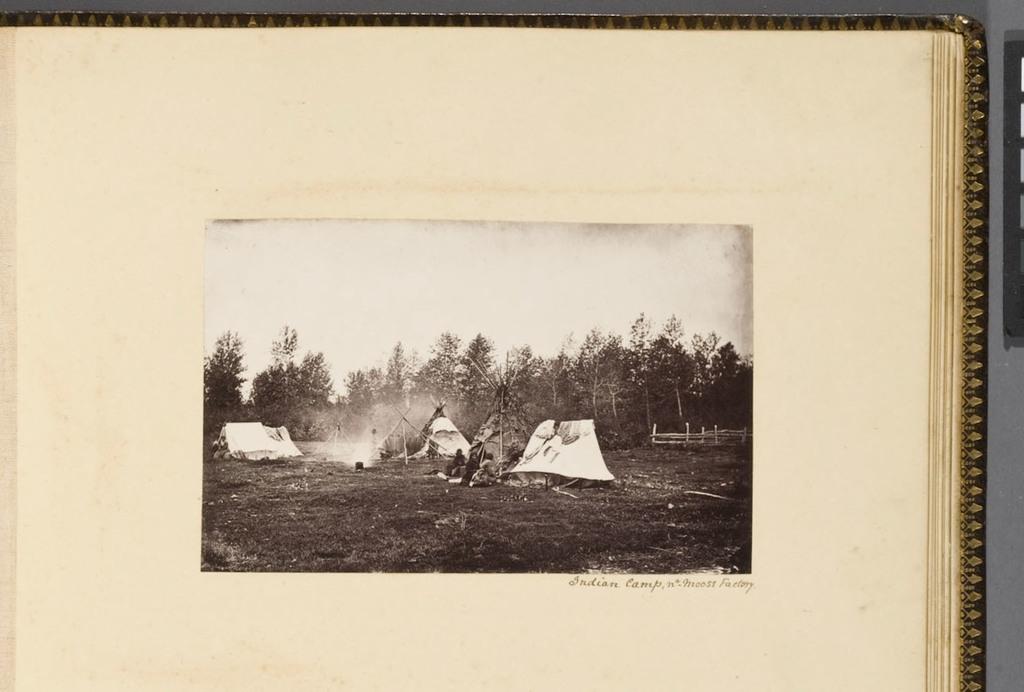 Campement indien, à Moose Factory, de l'album du révérend William M. Black