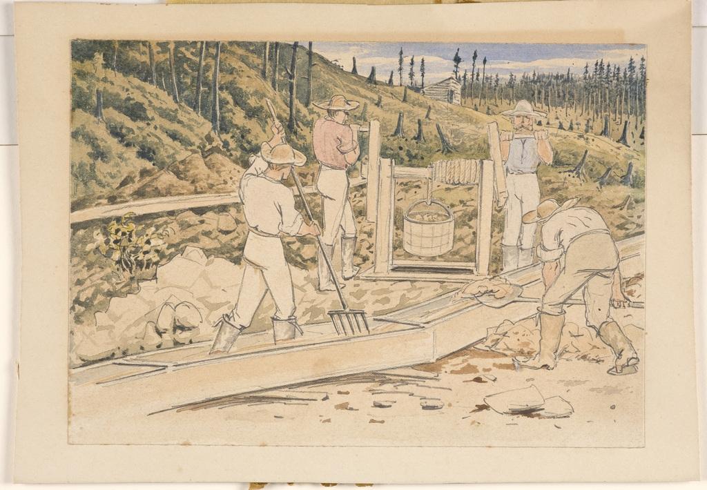 Chercheurs d'or à la rivière Gilbert, en Beauce