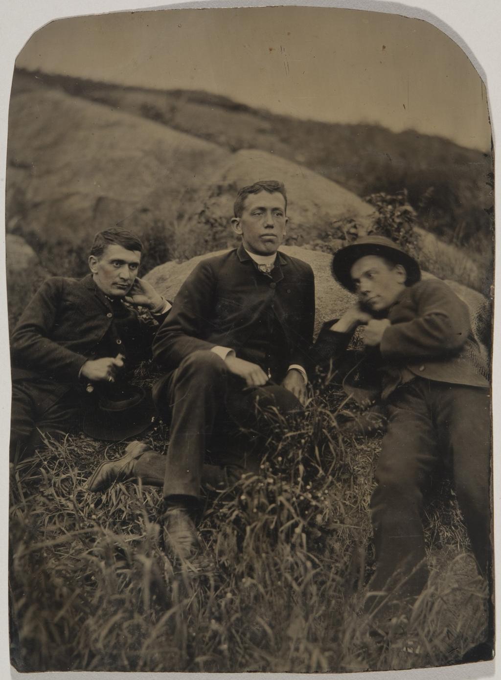 Portrait de trois hommes