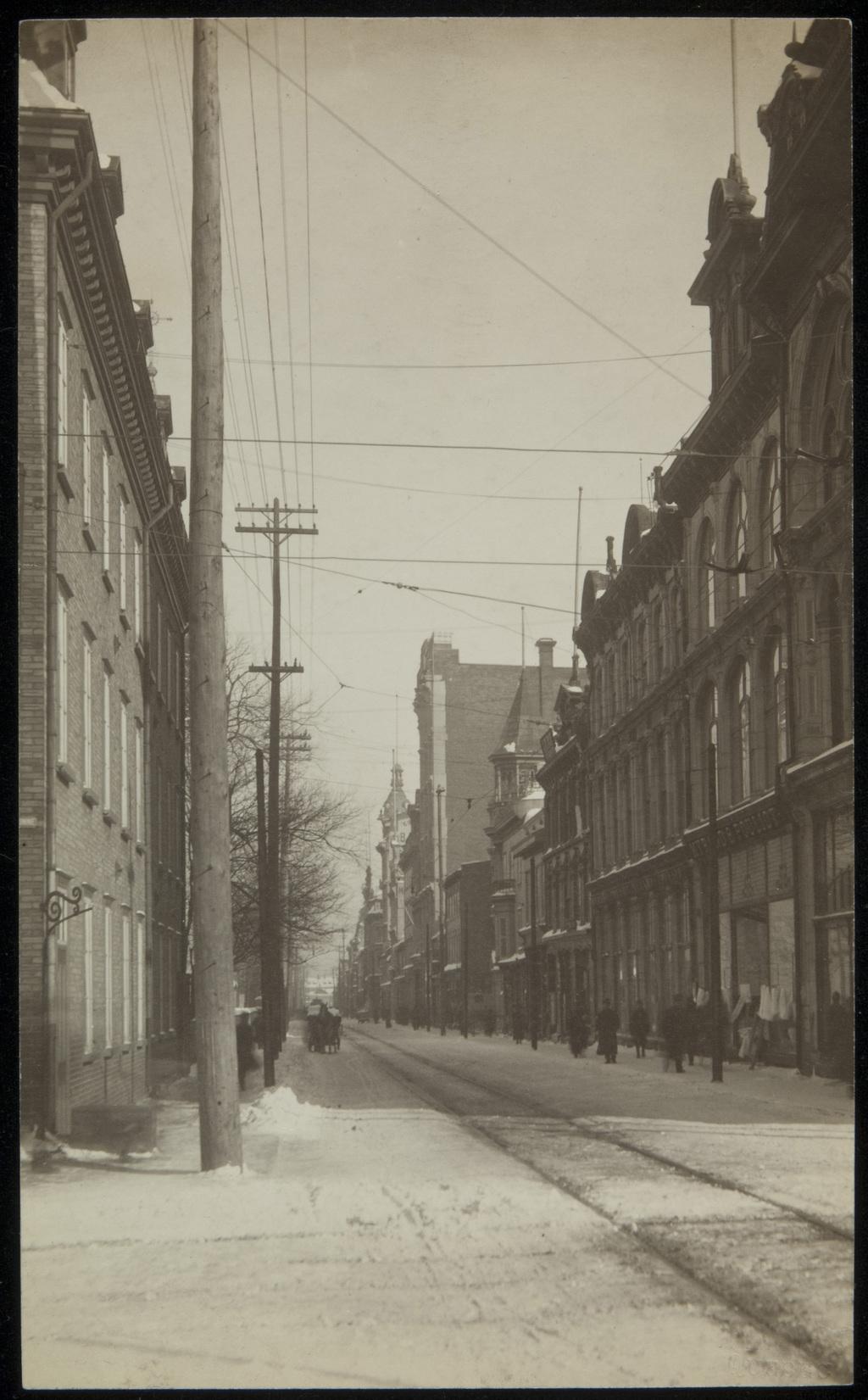 La Rue Saint-Joseph en hiver, Québec
