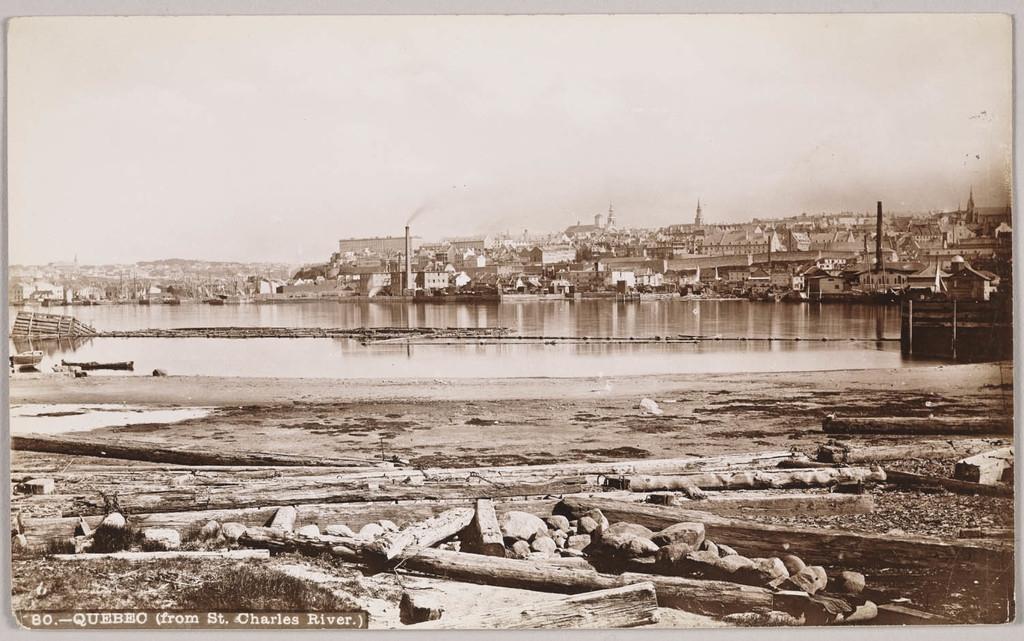 Québec vu de la rivière Saint-Charles
