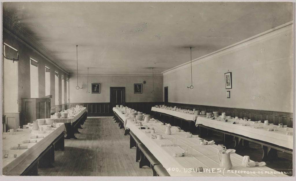Le Réfectoire du pensionnat au monastère des Ursulines, Québec