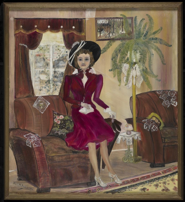 Autoportrait ou Simone Mary Bouchard au début de sa carrière