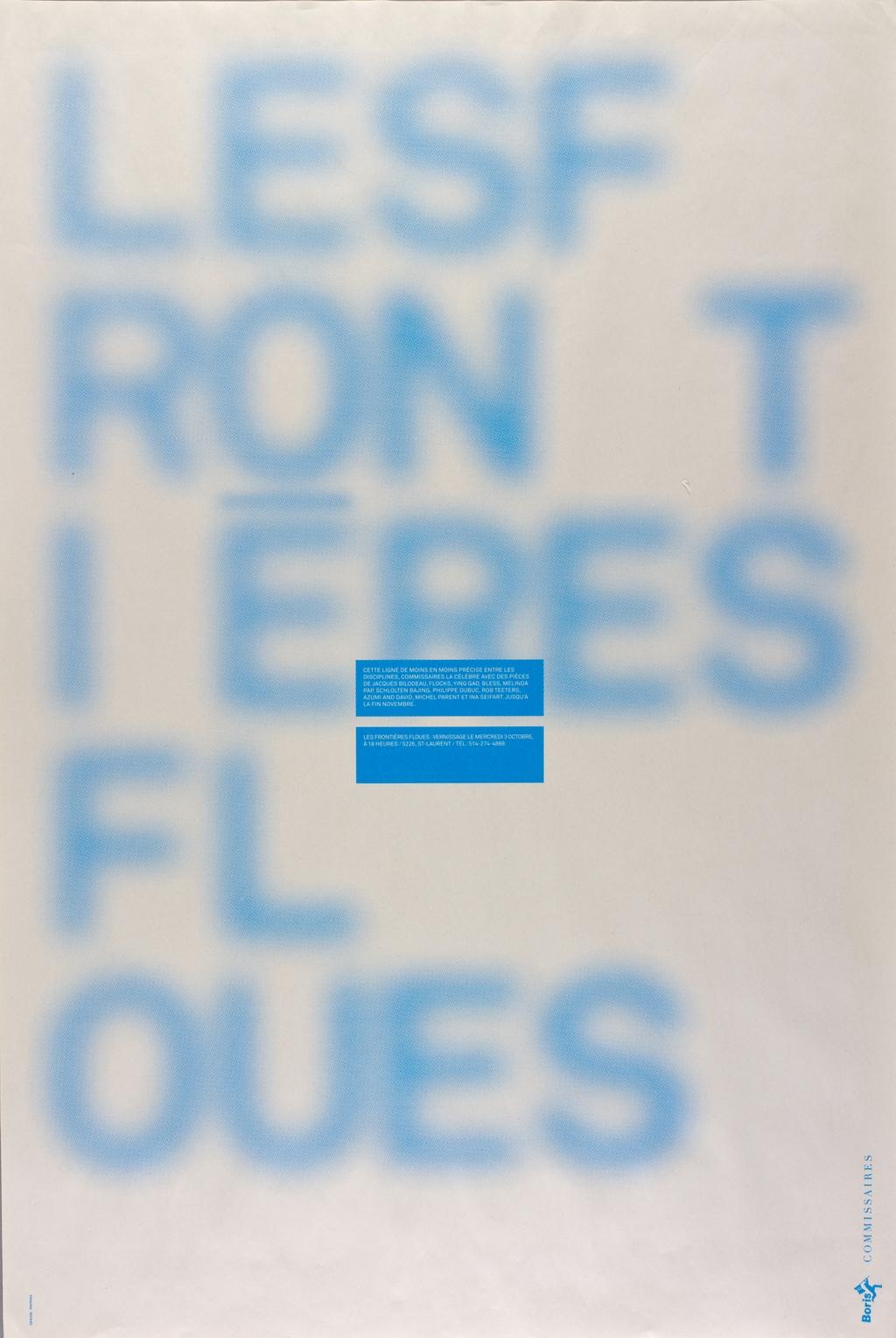 Affiche « Les Frontières floues »