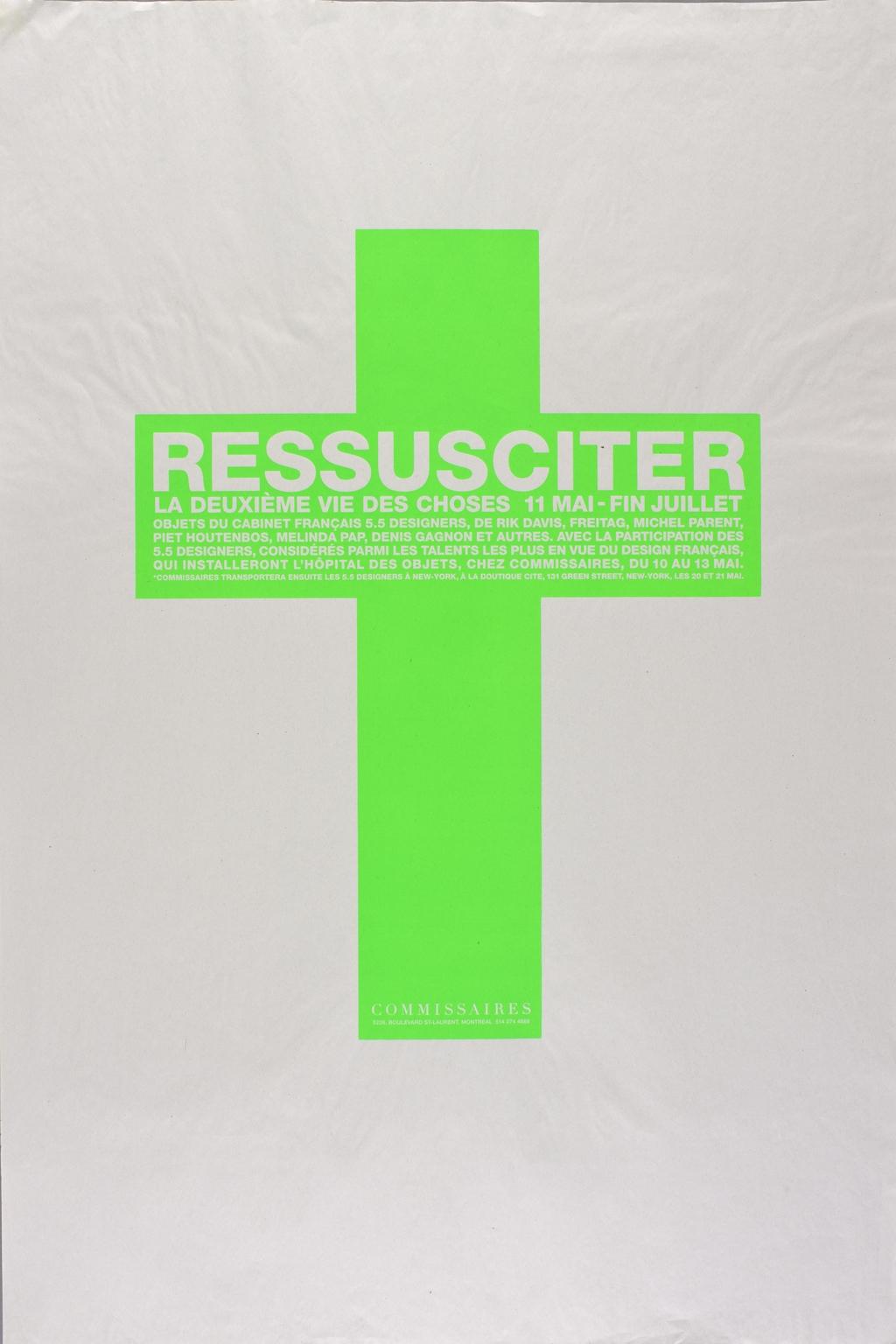 Affiche « Ressusciter. La Deuxième Vie des choses »
