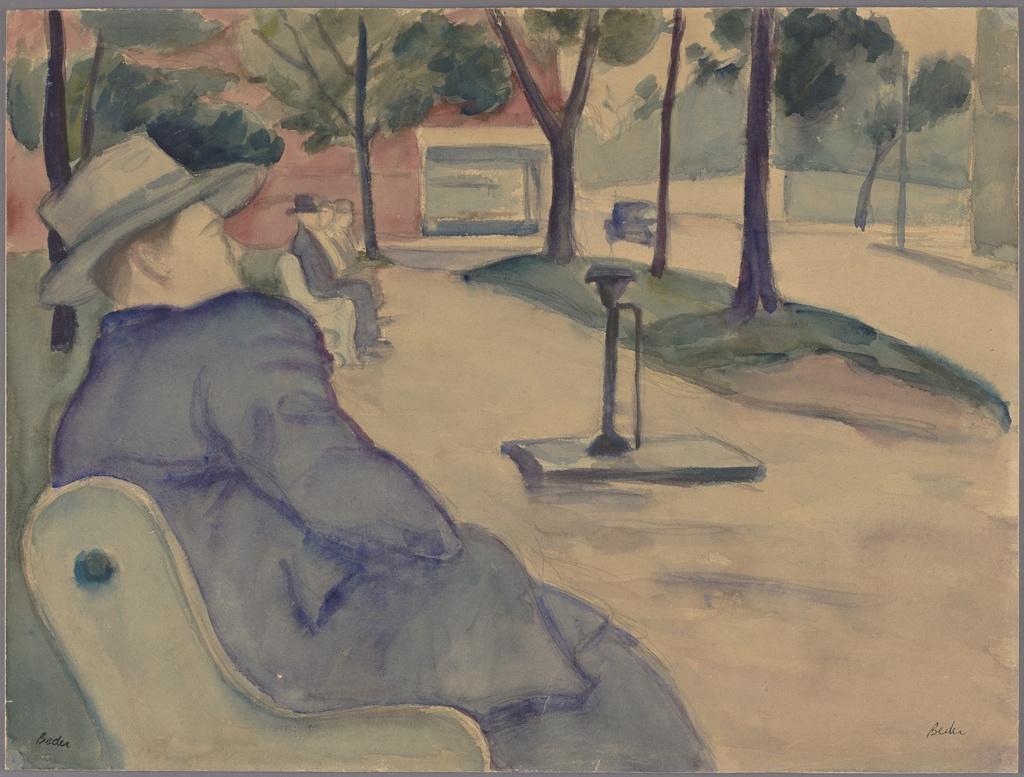 Dans le parc (Homme sur un banc, carré Saint-Louis)