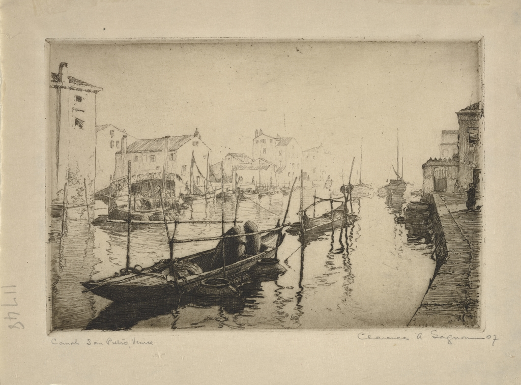 Canal San Pietro, Venise - Gagnon, Clarence | Collections ...