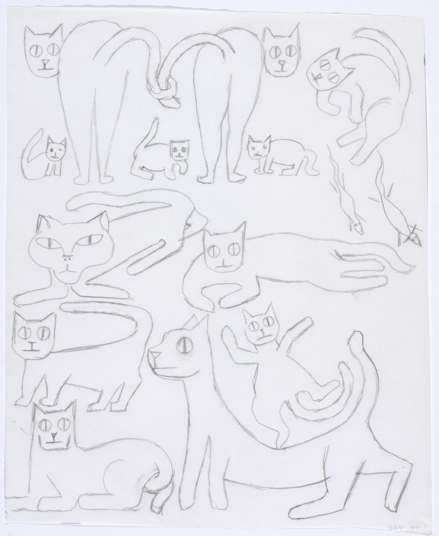Douze Chats, deux souris