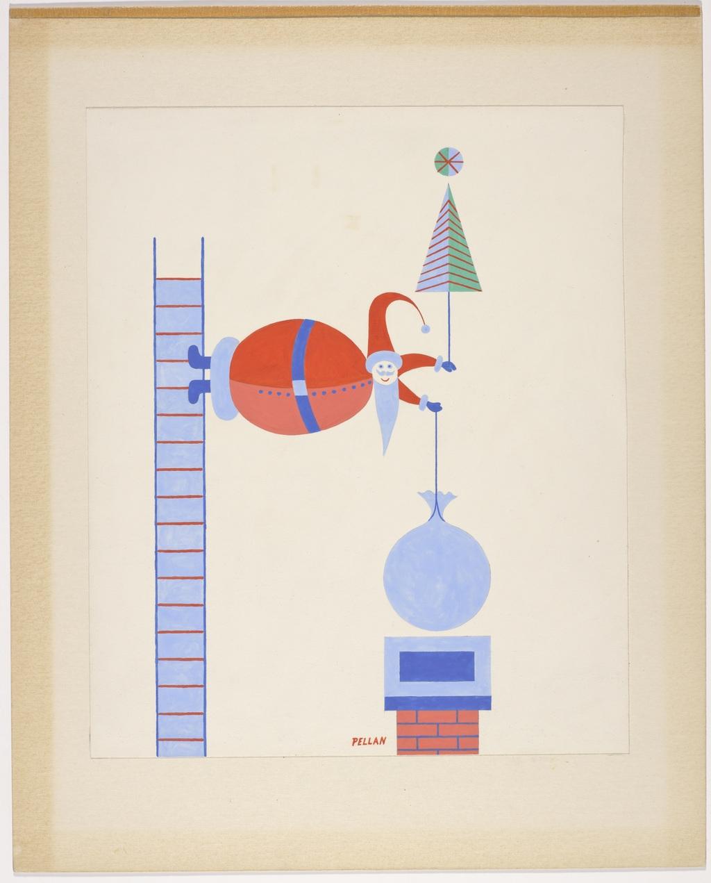 L'Équilibriste - B, de la série « Père Noël »