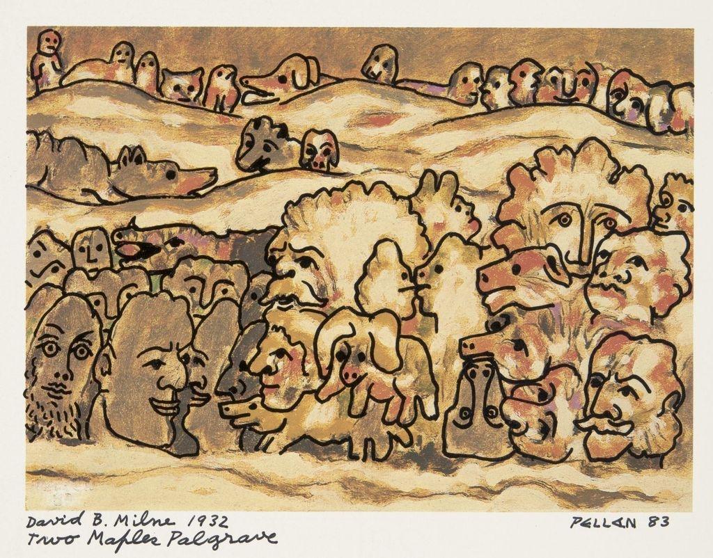 Bestiaire d'après « Two Maples, Palgrave » de David B. Milne