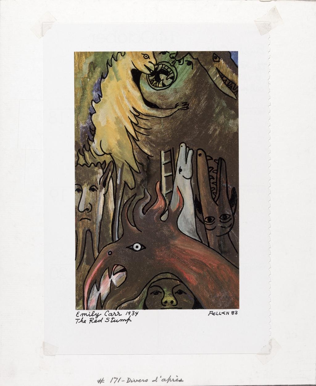 Bestiaire d'après « The Red Stump » d'Emily Carr