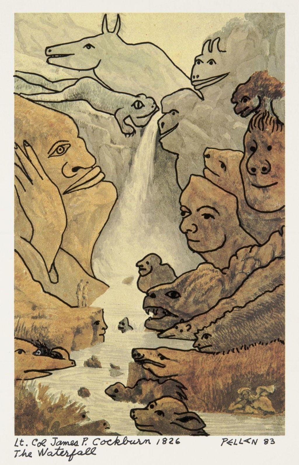 Bestiaire d'après « The Waterfall » de James P. Cockburn
