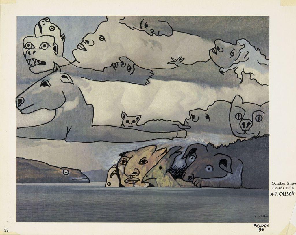 Bestiaire d'après « October Snow Clouds » d'A.J. Casson