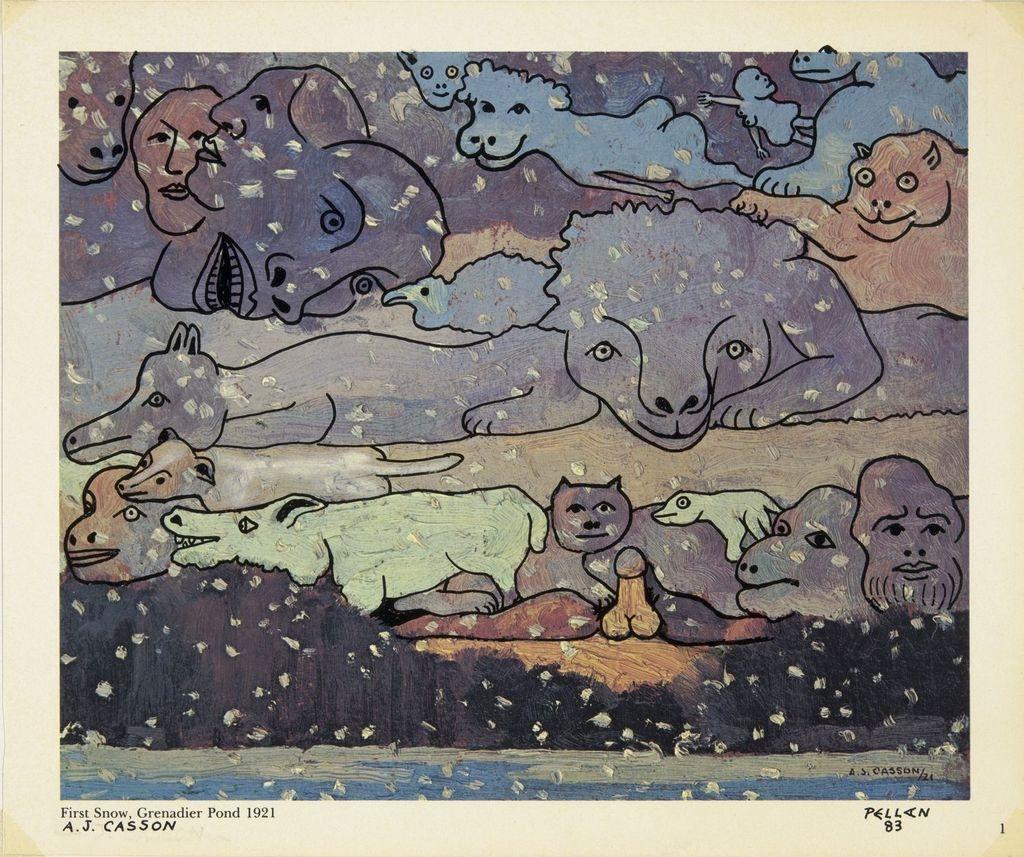 Bestiaire d'après « First Snow, Grenadier Pond » d'A.J. Casson