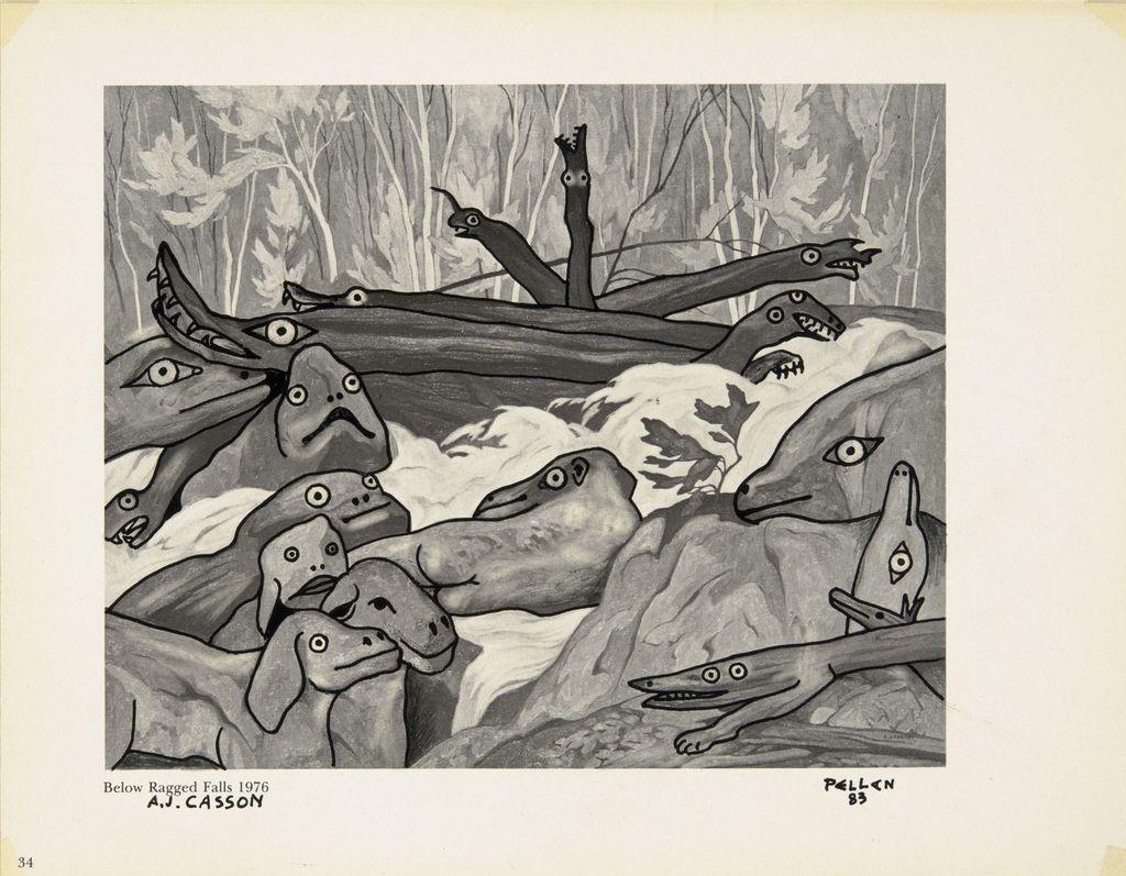 Bestiaire d'après « Below Ragged Falls » d'A.J. Casson