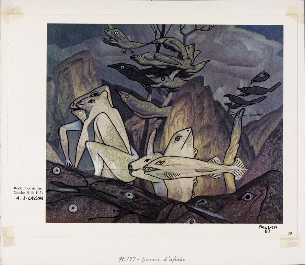 Bestiaire d'après « Rock Pool in the Cloche Hills, » d'A.J. Casson