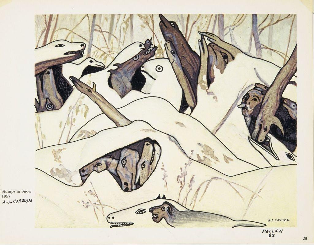 Bestiaire d'après « Stumps in Snow » d'A.J. Casson
