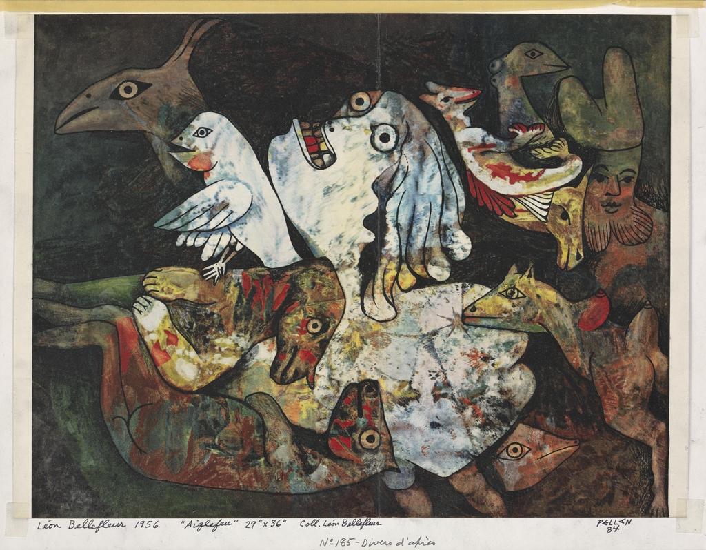 Bestiaire d'après « Aiglefeu » de Léon Bellefleur