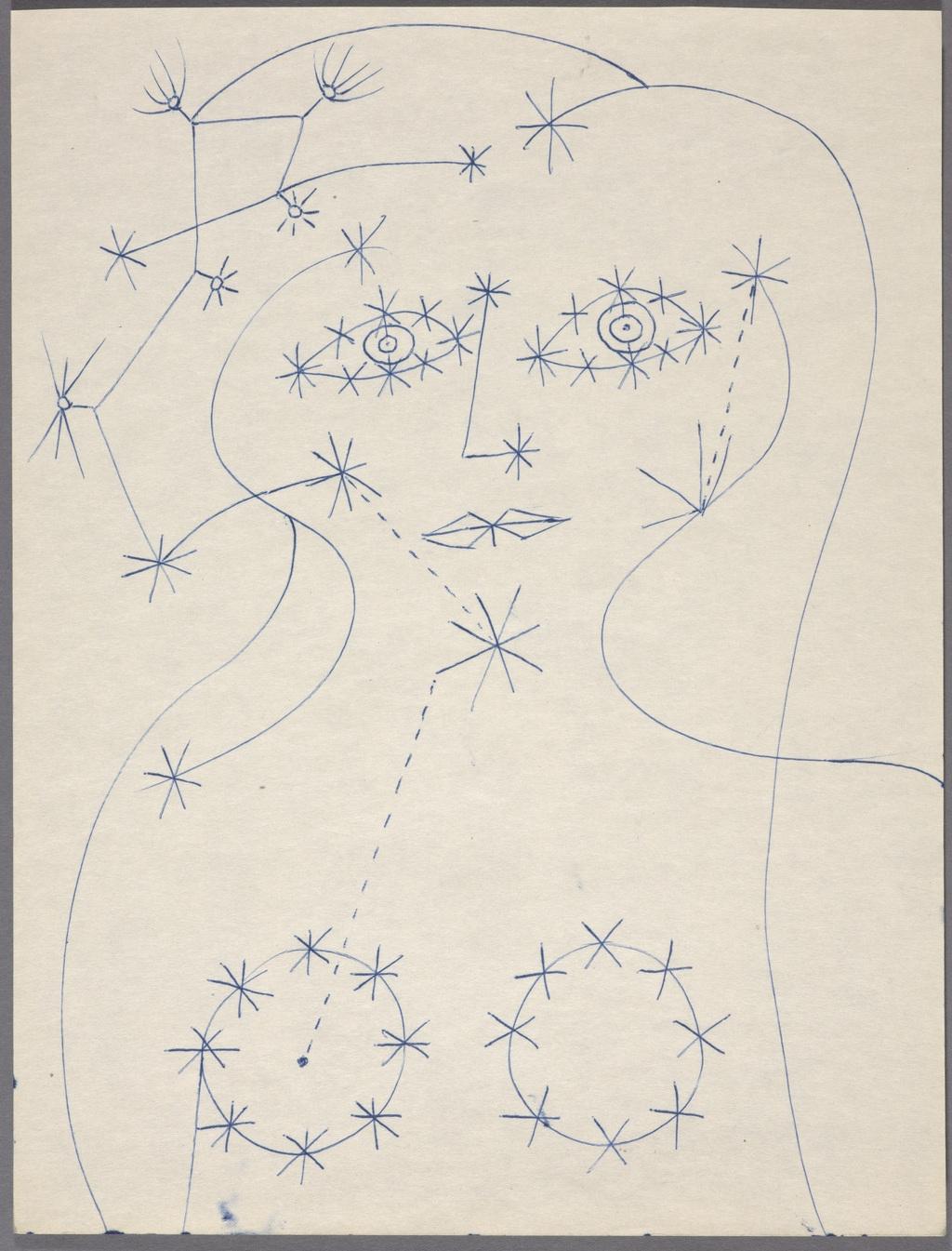Étude pour « Jeune Fille constellée »