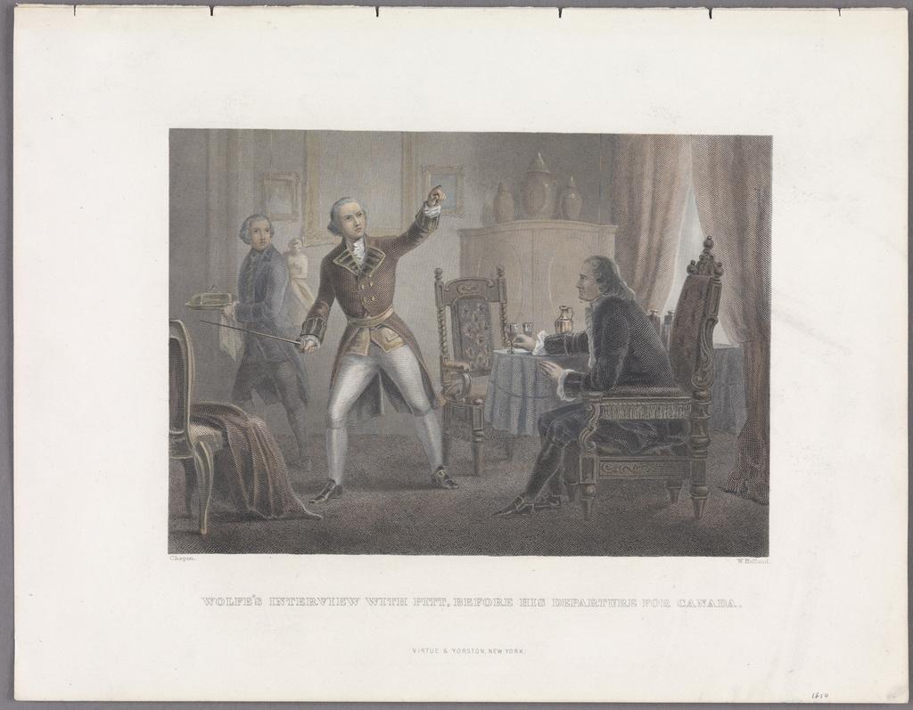 La Rencontre de Wolfe avec Pitt, avant son départ pour le Canada, extrait d'un ouvrage