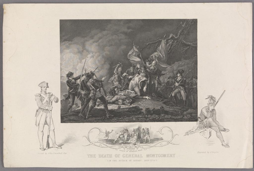 La Mort du général Montgomery, Québec, 1775