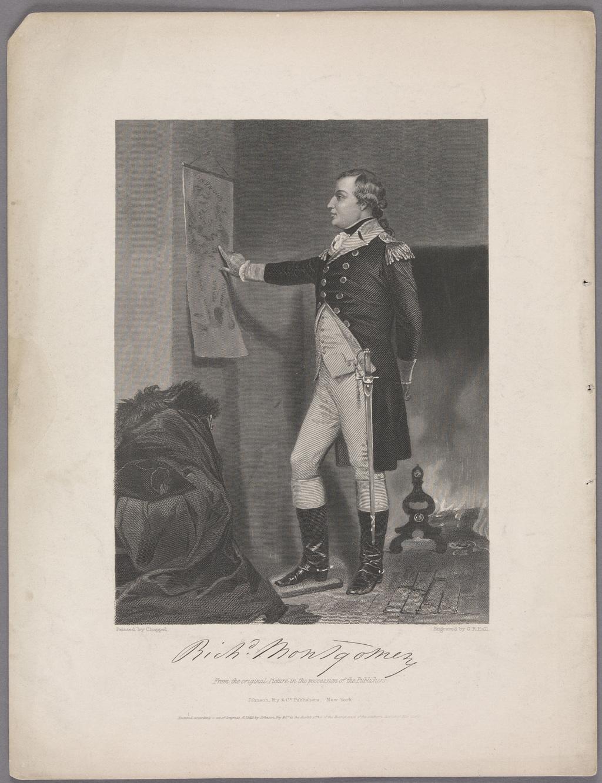Le Général Richard Montgomery, extrait d'un ouvrage