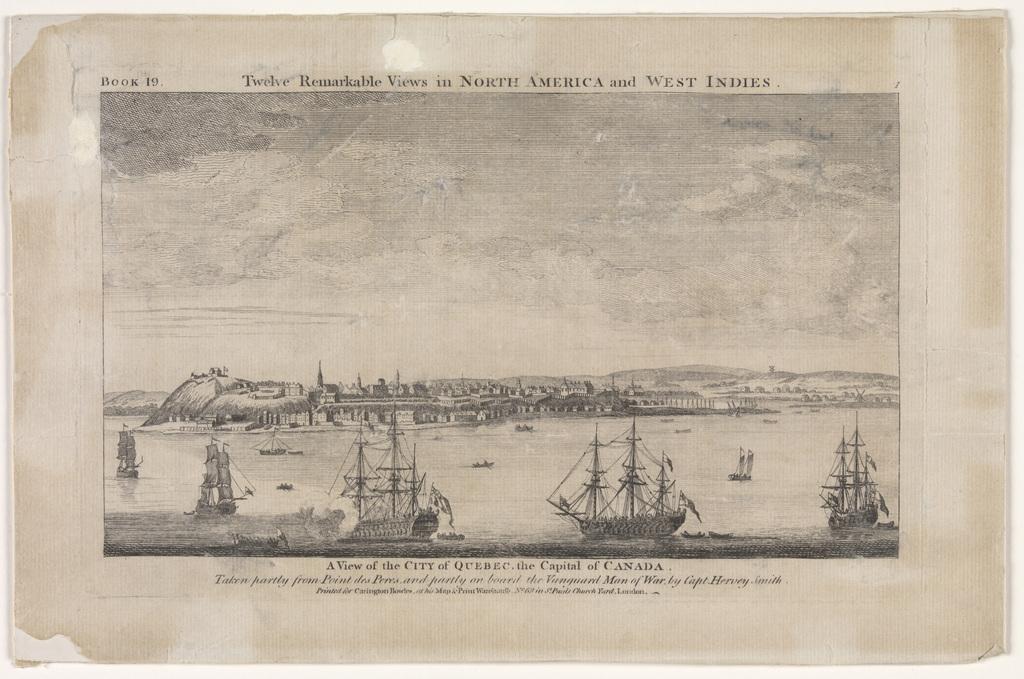 Vue de la ville de Québec, capitale du Canada