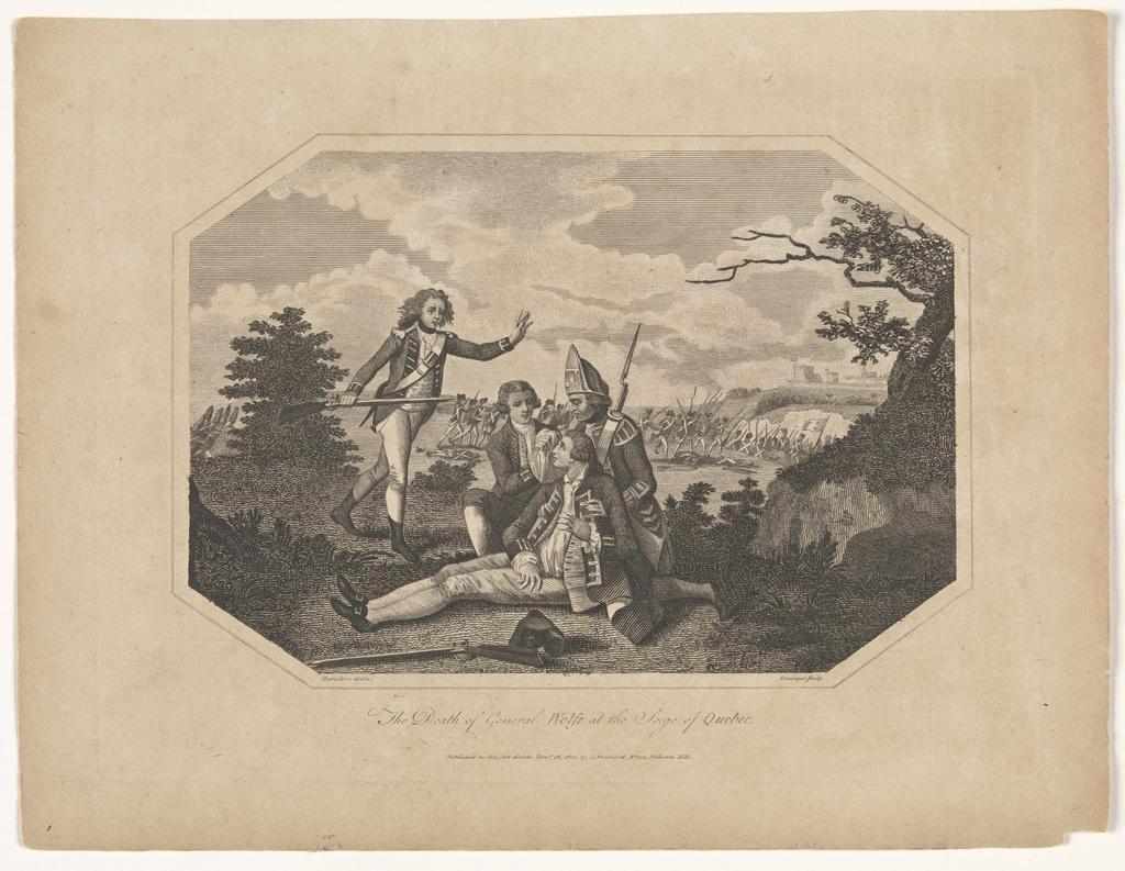 La Mort du général Wolfe lors du siège de Québec