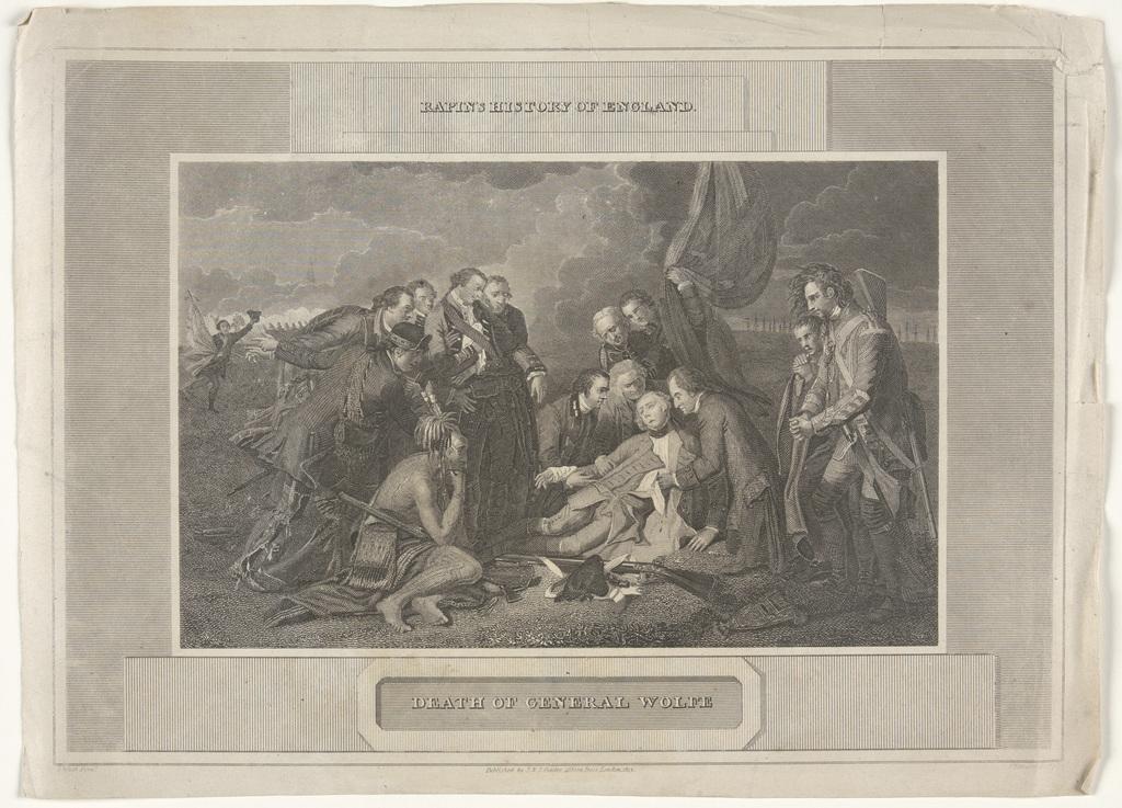 La Mort du général Wolfe, extrait de l'ouvrage History of England de Paul de Rapin de Thoyras