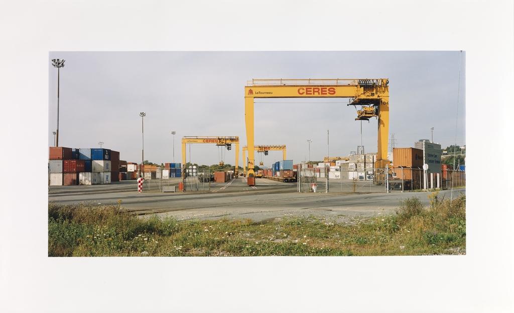 Grues à conteneurs, Halifax, Nouvelle-Écosse, de la série « Paysages étalonnés »